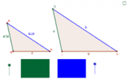 Similar triangles with missing lengths