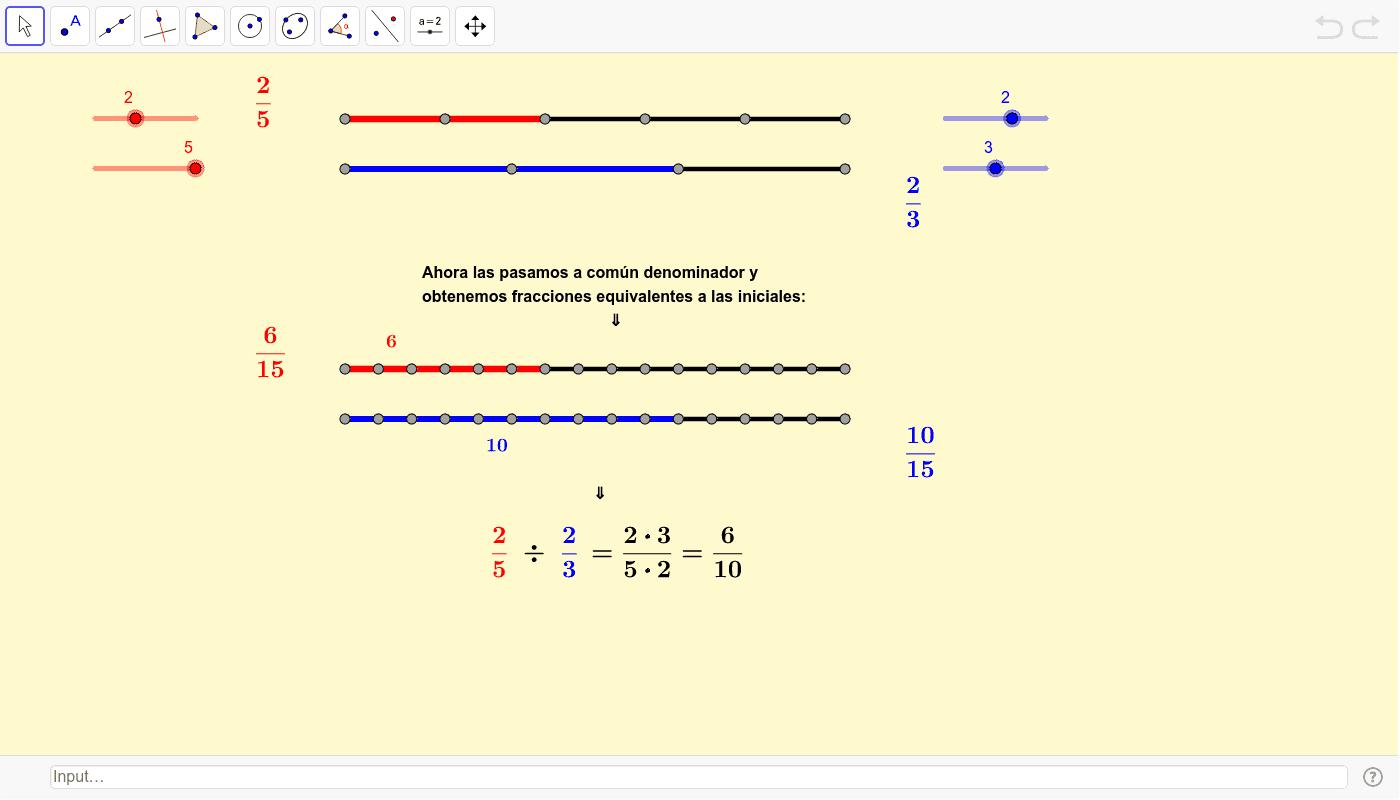División de fracciones Presiona Intro para comenzar la actividad