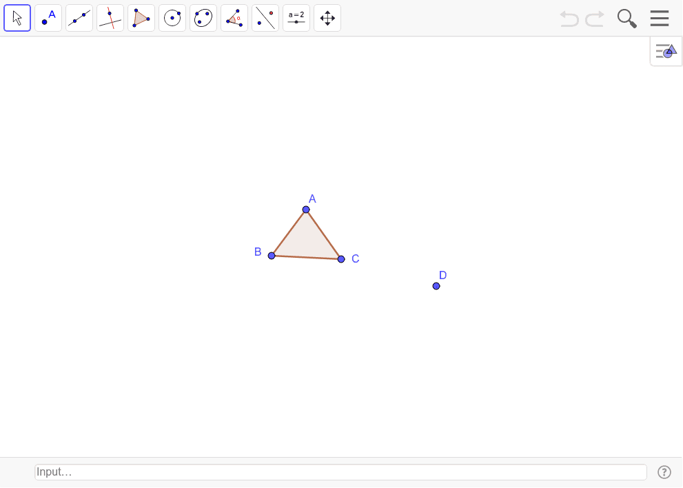 Dilate Triangle ABC through point D by the scale factor of 2.