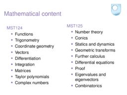 Mathematical content