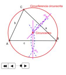 EPV1.Triángulos. Circuncentro.