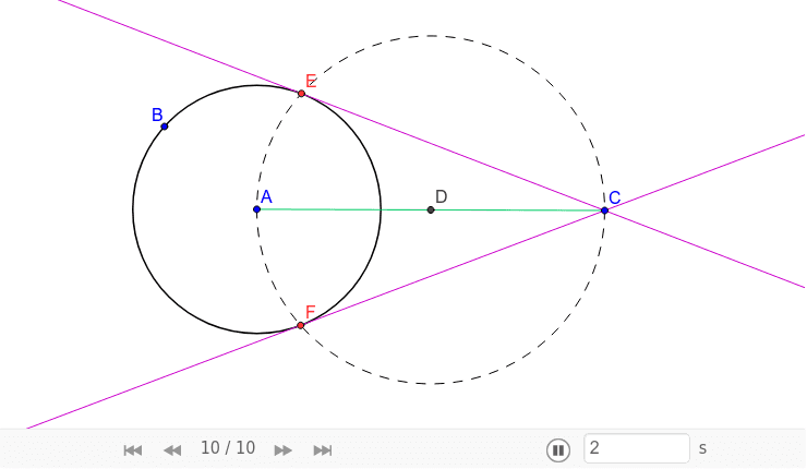 Raaklijnen aan een cirkel