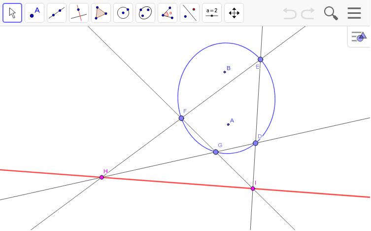 楕円に内接する四角形。作図によってこんな単純な図から不思議な世界が見えてきます。