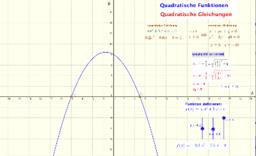 Quadratische Gleichungen und Funktionen
