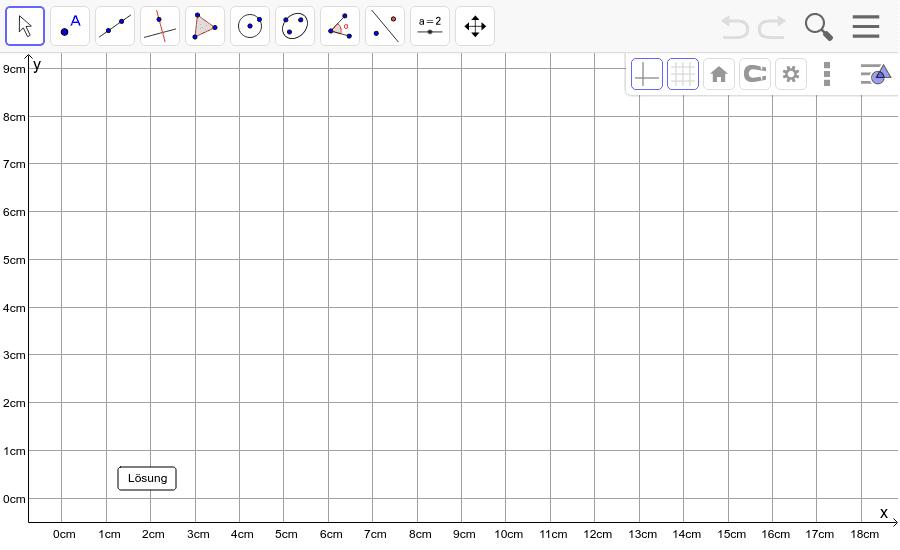 Dreieck 1:  A(1/1), B(10/3), C(3/9): Zeichne das Dreieck und konstruiere den Höhenschnittpunkt H. Füge den Screenshot der Koordinaten von H im Auftrag in Teams ein! Drücke die Eingabetaste um die Aktivität zu starten