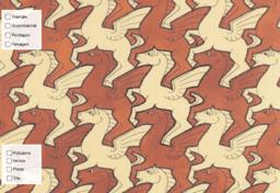 Escher's Pegasus Tessellation