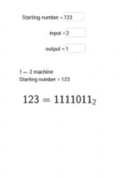 Transformarea nr. zecimal 123 in Baza 2  cu  GeoGebra