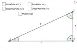 Katheten und Hypotenuse