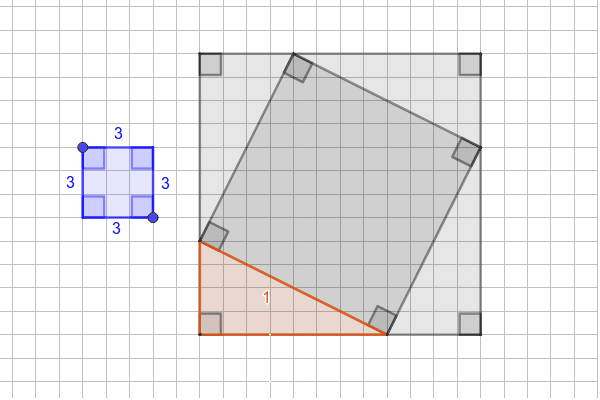 Visual 3: Click and drag the points to explore areas and side lengths of rectangles, squares, and right triangles. Press Enter to start activity