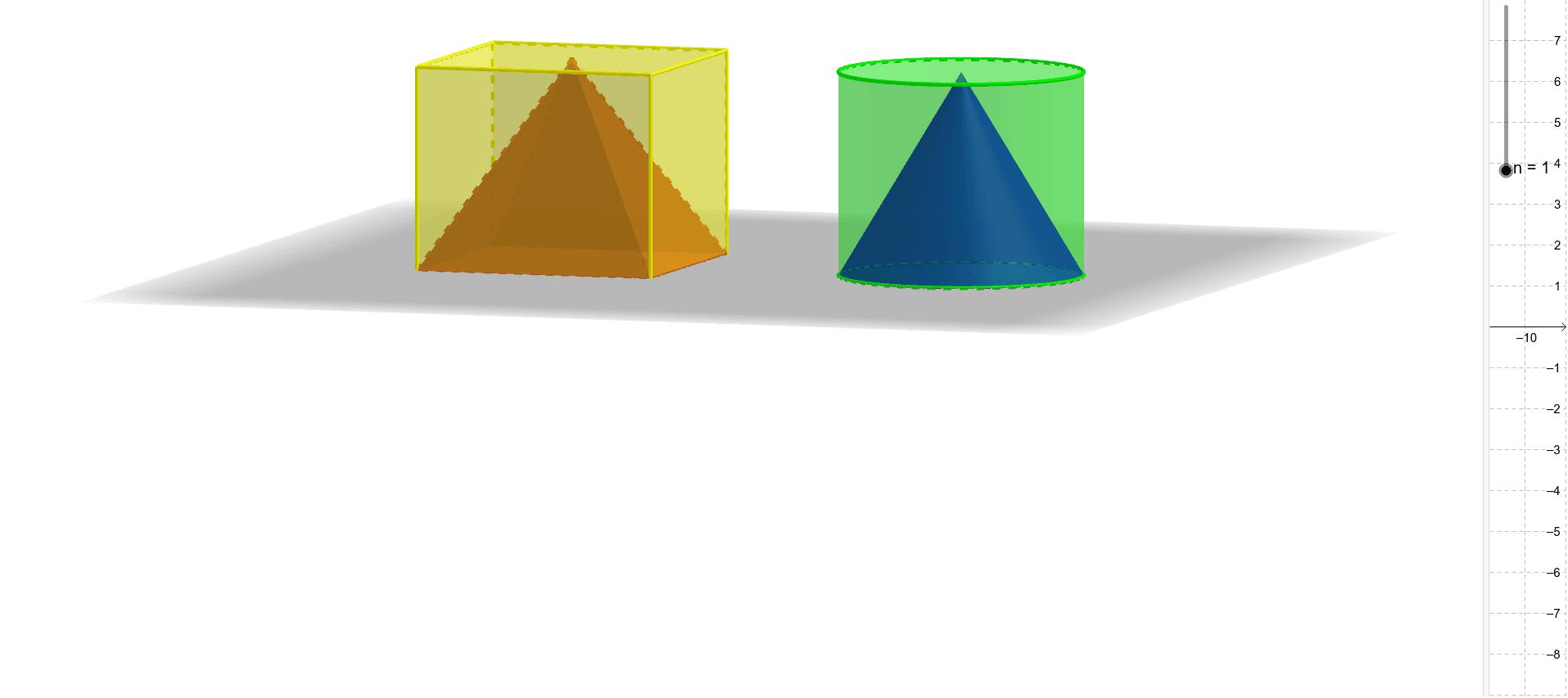 """Document pour l'activité sur le volume du cône de révolution Tapez """"Entrée"""" pour démarrer l'activité"""