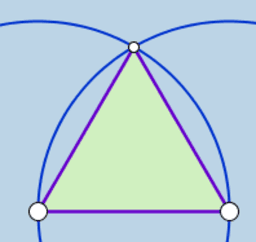 Equilateral Triangle Construction (Dynamic Illustration)
