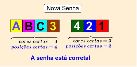 Clique em 2 caracteres para trocá-los de lugar entre si e descobrir a senha correta.