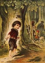 Hans og Grete kastede brødkrummer ud for at kunne finde hjem fra skoven. Kilde: [url=http://www.maerchenatlas.de/deutsche-maerchen/grimms-marchen/hansel-und-gretel/]Märchenatlas[/url].